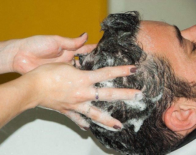 Lavagem do cabelo